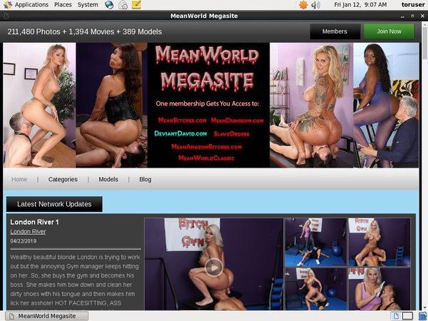 Premium Accounts Free Meanworld.com